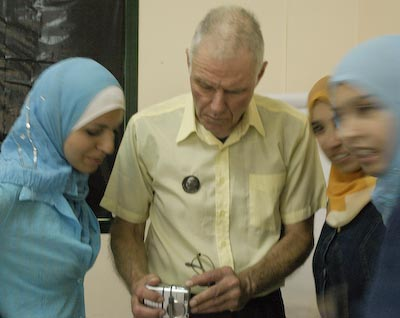 Teaching photography in Gaza, May 2003