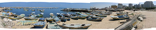 GazaWaterfrontBoatsPanoStitch