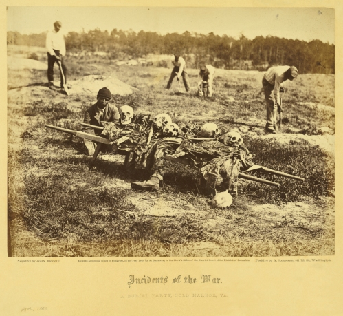 A Burial Party. Cold Harbor, Virginia. April, 1865 Photographed by John Reekie