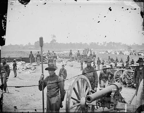 Civil WarCaptain Rufus D. Pettit's Battery B, 1st New York Light Artillery, in Fort Richardson - Near Fair Oaks, VA
