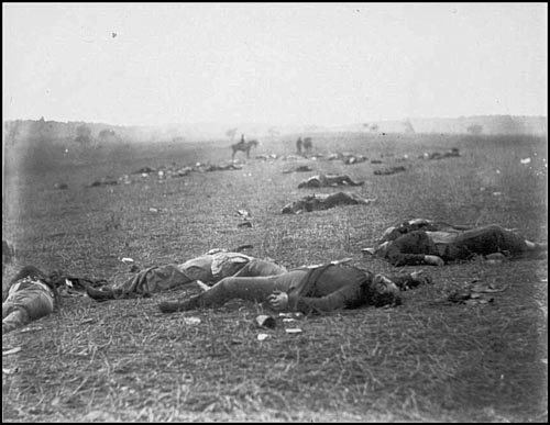 Civil WarDead Federal Soldiers on Battlefield - Gettysburg, PA, July 1863