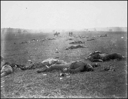 Civil WarDead Federal Soldiers on Battlefield - Gettysburg, PA, July 1863