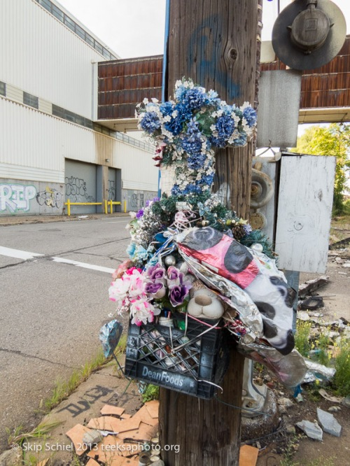 Shrine to a murder, less than one block from Historic Fort Wayne