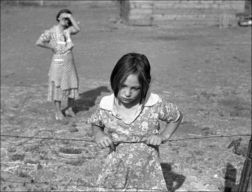 Dorothea Lange- Washington, Yakima Valley, near Wapato. One of Chris Adolf's younger children. Farm Security Administration Rehabilitation clients.