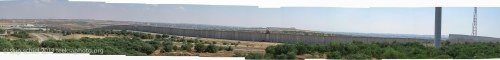 The wall between Gaza and Israel from Netiv Ha'asara