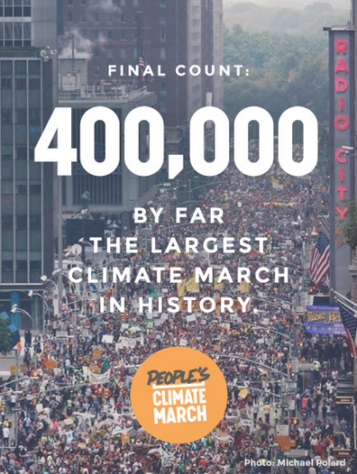 Climate March numbers