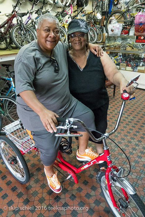 Mother and daughter, Detroit residents, buy tricycles