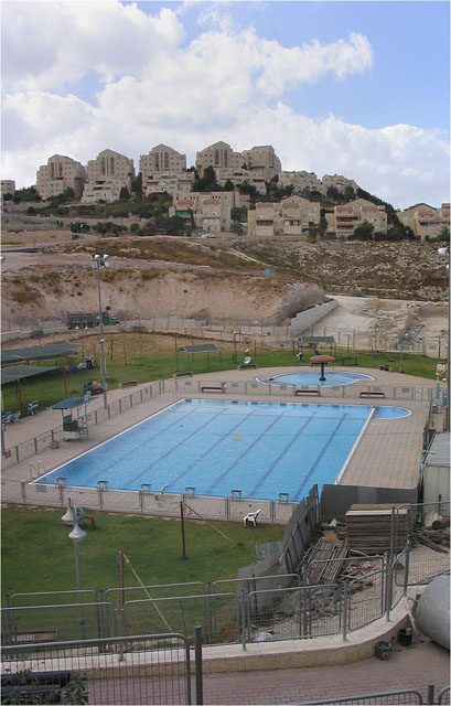 Swimming pool, Ma'ale Adummim, Israeli settlement, Oct 03
