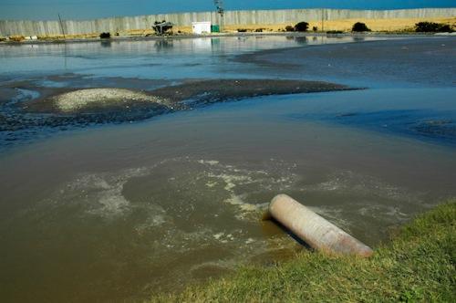 Sewage pond, Rafah, Gaza, 2006