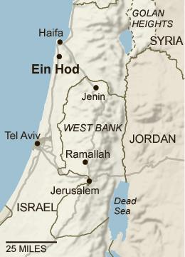 Ein Hod 14Israel_map-popup