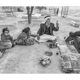 Khalil Mohammed Rashyda (Abo Daifallah), 98+ years old, Rashayda Bedouin camp, West Bank