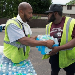 Distribution of free water in Flint, Michigan