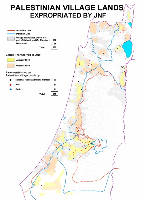 MAP-Expropriated land by JNF