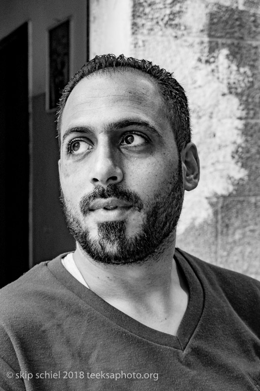 Mohammed (Mousa) Al Azzeh, my organizer and translator, an accomplished photographer-videographer working for the Lejee Center in Aida-Palestine-Aida-refugee-IMG_1602 SM.jpg
