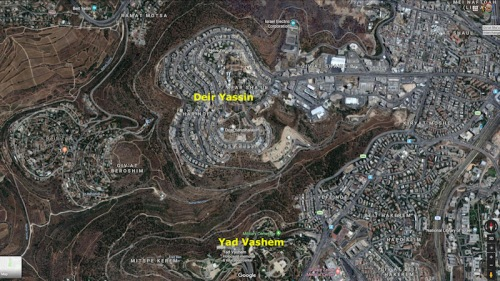 Yad Vashem-Deir Yassin-GoogleEarth2SM