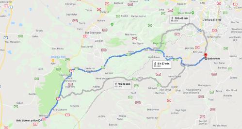 Map Beit Jibrin